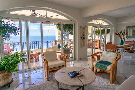 Living Room View of a Ocean View Condo in Amapas Puerto Vallarta