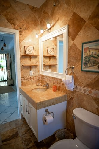 Colorful Guest Bathroom