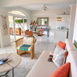 Living Room of Ocean View Condo at Amapas in Puerto Vallarta